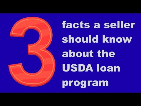 What are three facts a seller should know about the USDA loan program?