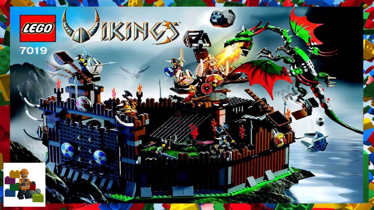 Lego Instructions Vikings 7019 Viking Fortress Against The
