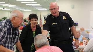 Mayor Jane Castor and Chief Brian Dugan Visit Residents on Neighborhood Night Out