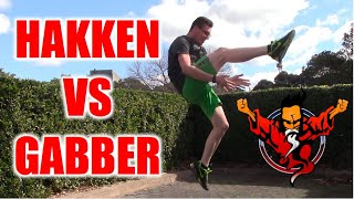 Old School Gabber vs New School Hakken Compilation in Public!