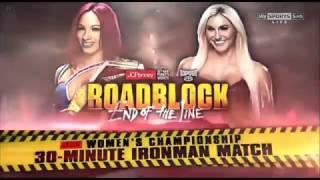 WWE Roadblock 2016 Sasha Banks vs Charlotte Official Match Card
