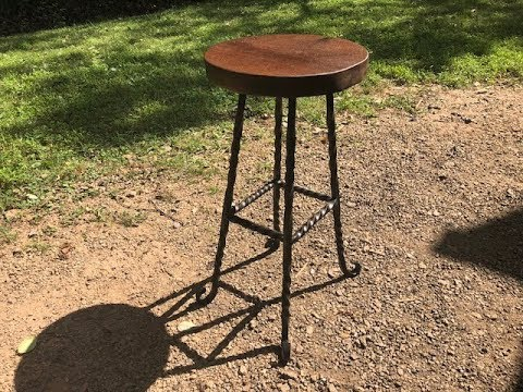 Building a forged barstool