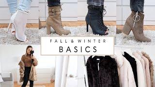 FALL & WINTER 2018 BASICS - Boots & Coats Edition!