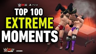 WWE 2K15 Top 100 Extreme Moments!