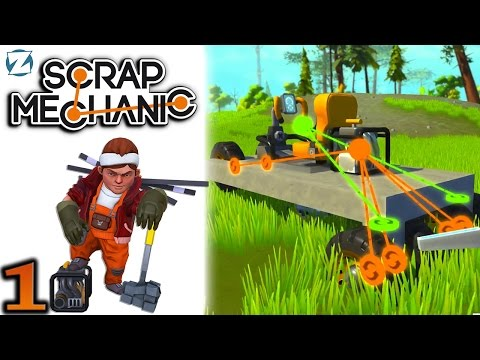 Scrap Mechanic Gameplay - Ep 1 - How to Build a Simple Car (Let's Play)