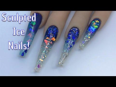 Sculptured Ice Nails | Acrylic Nails | Nail Sugar