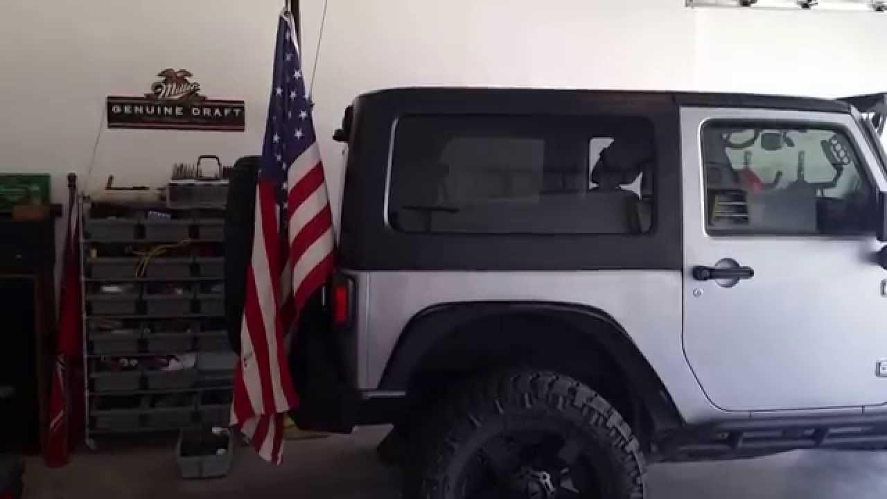Jeep jk flag pole - YouTube 883765433