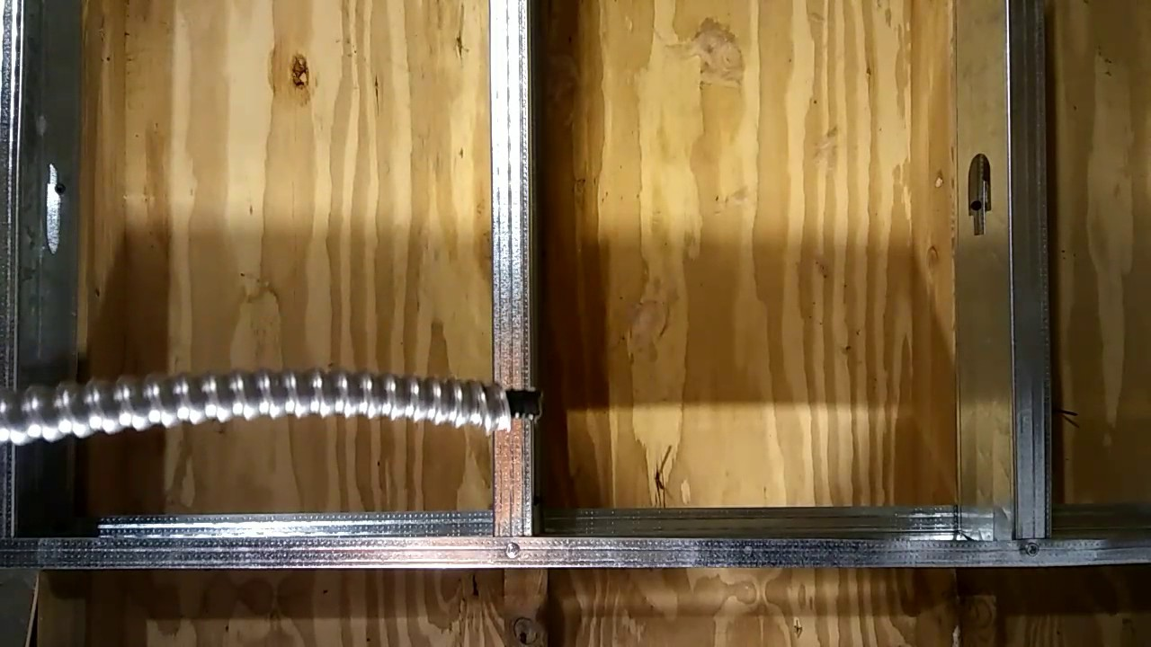 Pushing Or Pulling Mc Cable Through Metal Studs