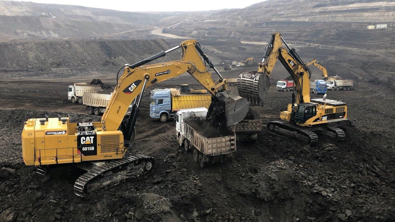 Caterpillar 6015B & 385C Excavators Loading Trucks With 2 Passes-Sotiriadis/Labrianidis Mining Works