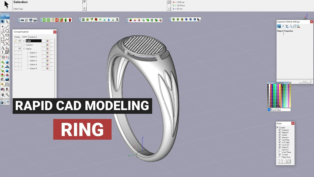 Rapid Jewelry Cad Modeling And Prototyping Men S Large Size Ring