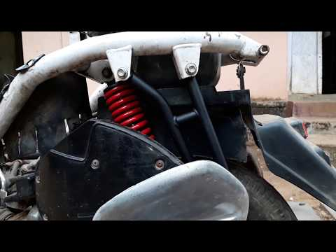 How to install/replace Rear side foot rest of Honda Activa.