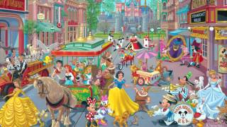 """Disney Fine Artist """"Manny"""" Hernandez discusses his painting """"Happiest Street on Earth"""""""