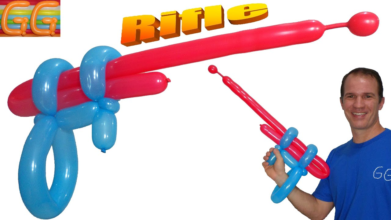 Como Hacer Una Pistola Con Globos Largos Globoflexia Facil - Figuras-con-globos-faciles