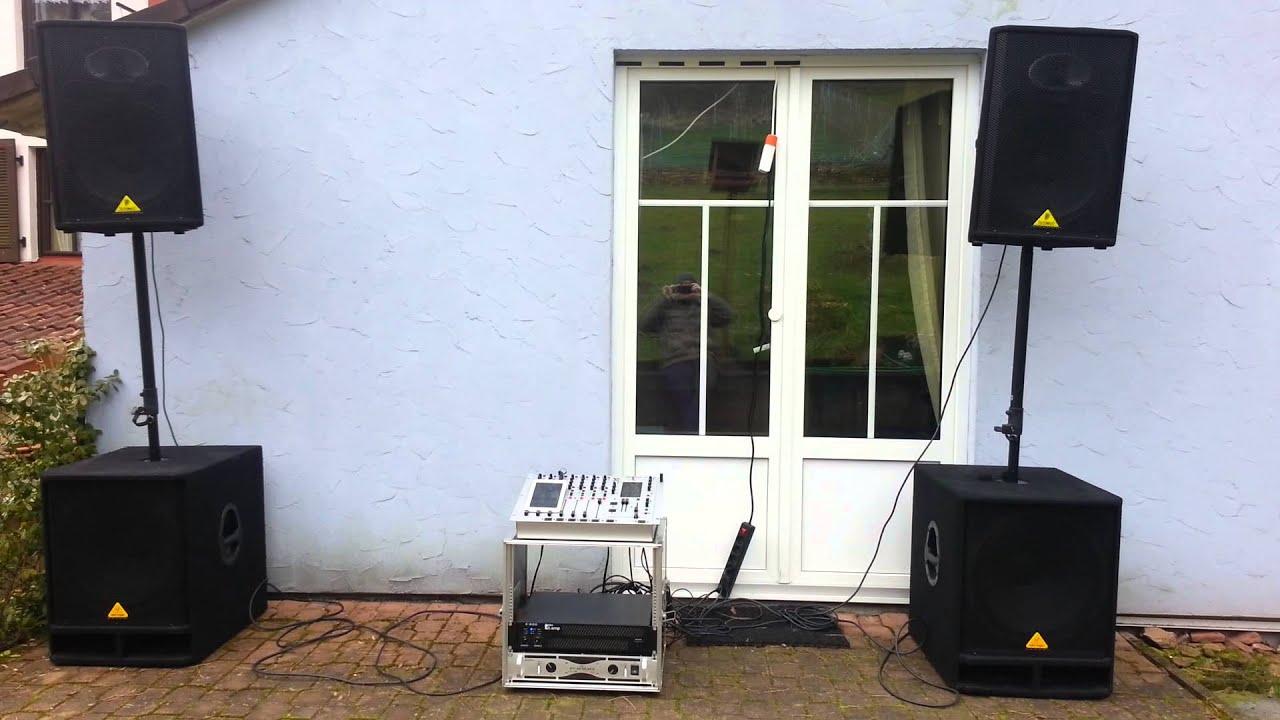 pa anlage behringer soundsystem youtube. Black Bedroom Furniture Sets. Home Design Ideas
