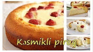 🔵 Kəsmikli piroq hazırlanması | Sadə piroq resepti | Çiyələkli piroq | Meyvəli piroq