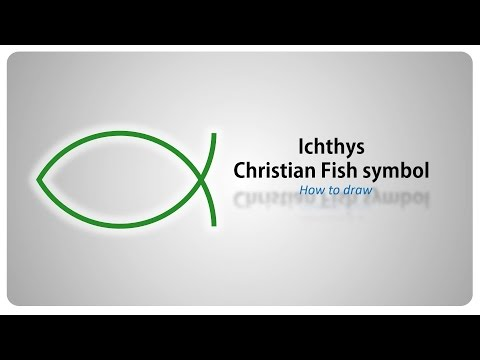 How To Draw - The Ichthys - Christian Fisch Symbol - Step By Step Tutorial (english)