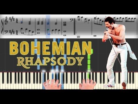 Queen - Bohemian Rhapsody | Sheet Music & Synthesia Piano Tutorial thumbnail