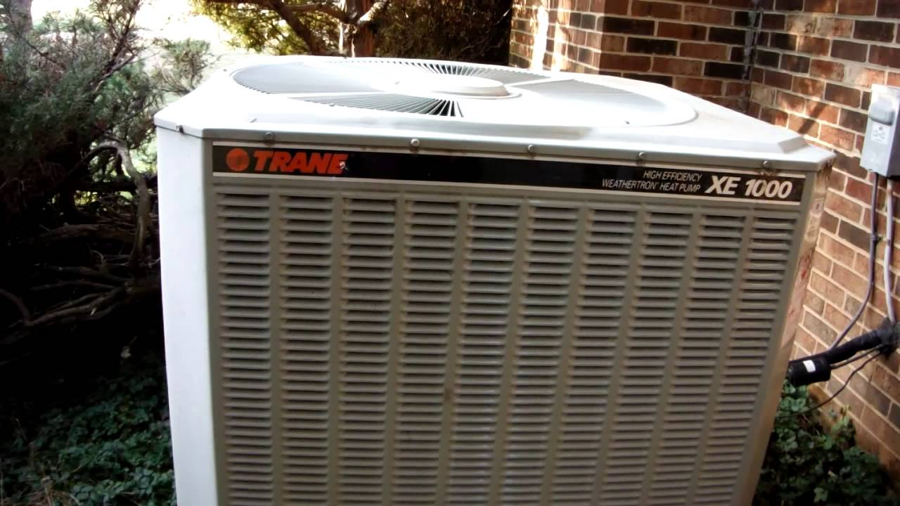 2001 Trane Xe1000 5 Ton Heat Pump Running In Mode And Defrosting Steam Show You