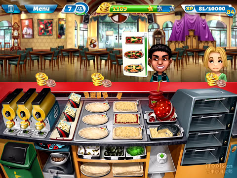 Generate Cooking Fever-Pizzeria Level 40 (3 stars) Pictures