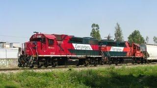 Ferromex GP38's 2038 2015 Patiero de Las Juntas y Camion HR Arrastrando Riel