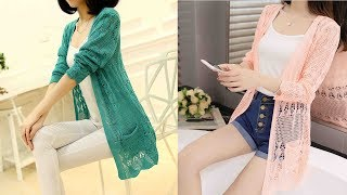 Thin knit Cardigan sweater female Jacket loose shawl Review | Best Cardigan For Women Fashion 2019