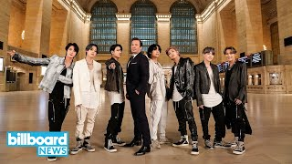 BTS Take Over Grand Central Station For Electric 'ON' Performance   Billboard News