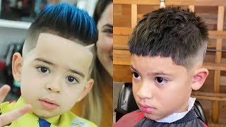 BEST BARBERS IN THE WORLD 2019    CUTE HAIRSTYLES FOR KIDS    BOYS HAIRCUTS 2019 EP19. HD