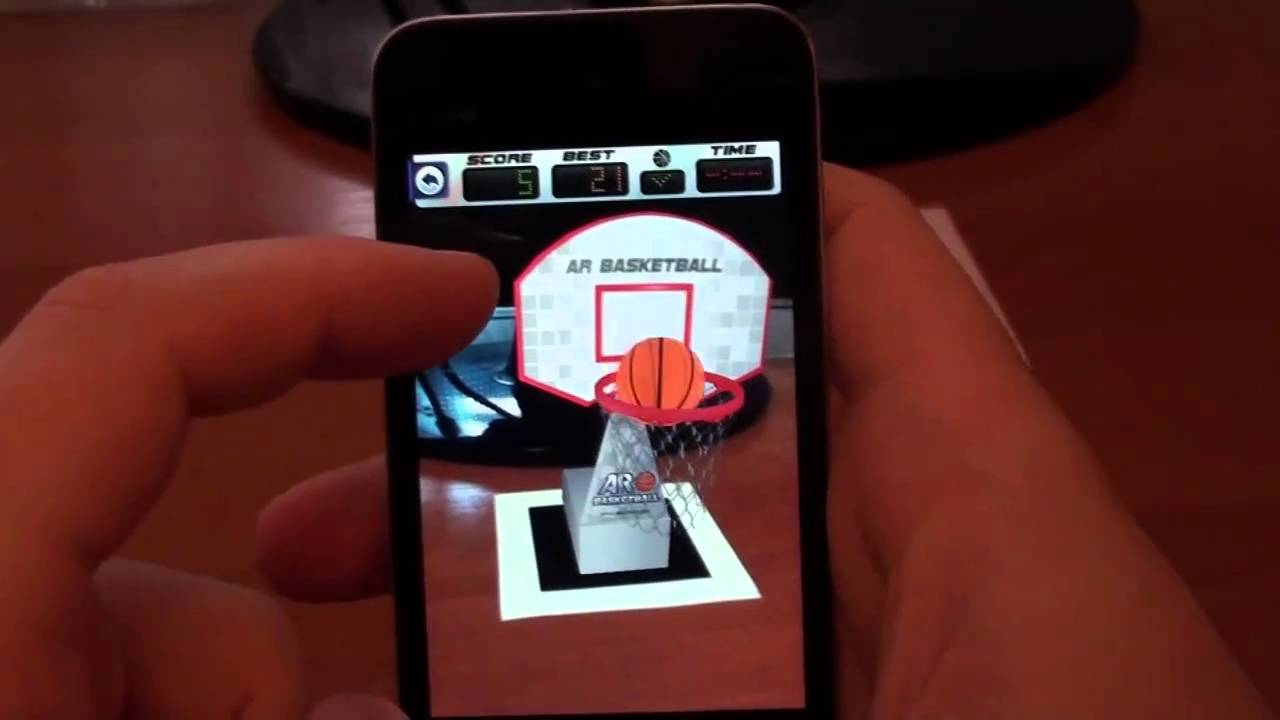 augmented reality games iphone arbasketball iphone augmented reality basketball 7789
