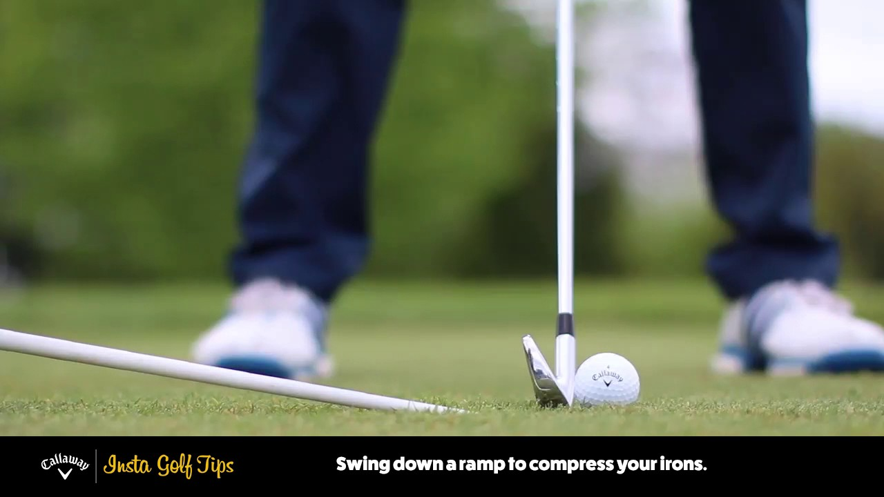 Insta Golf Tips Hit Down With Irons