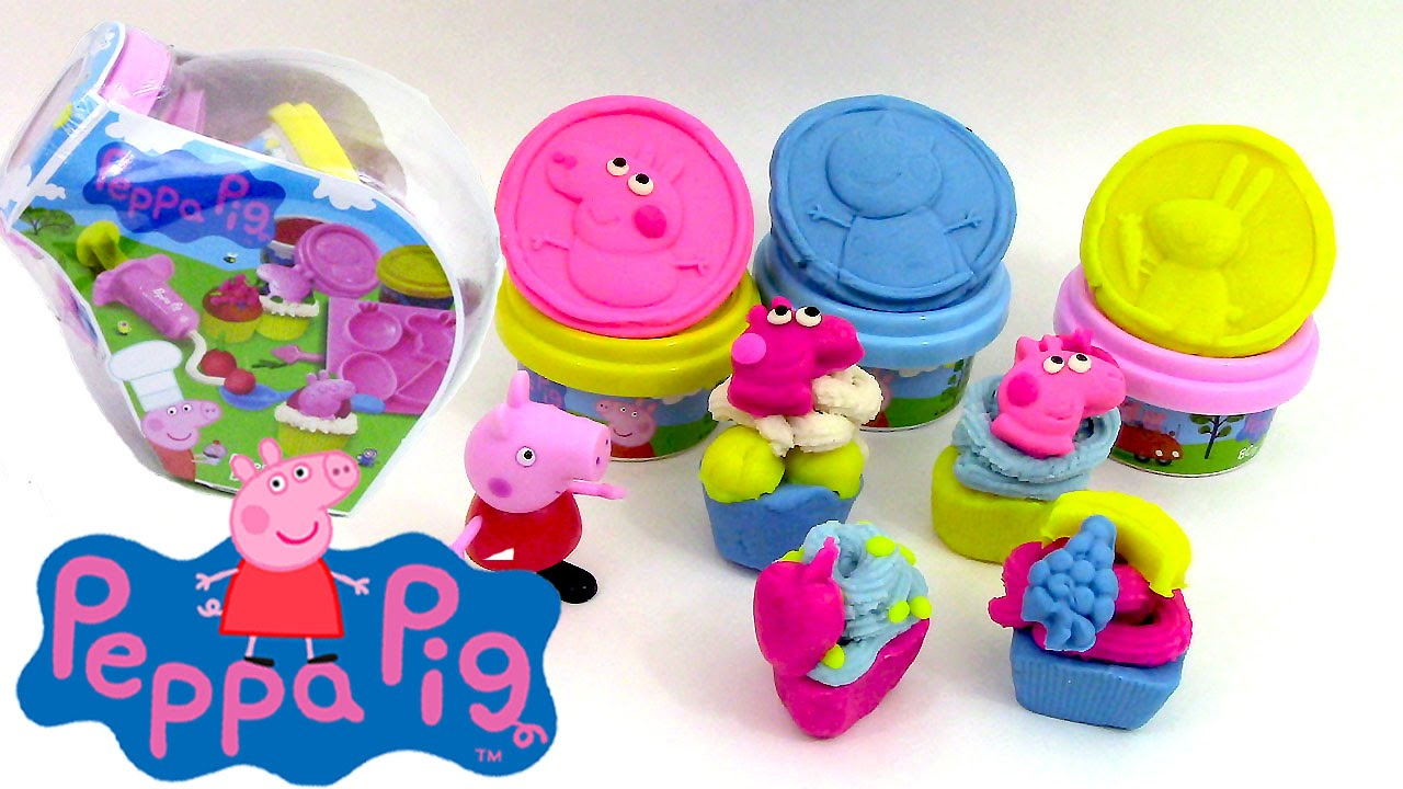 p te modeler peppa pig petits g teaux cupcakes play doh. Black Bedroom Furniture Sets. Home Design Ideas