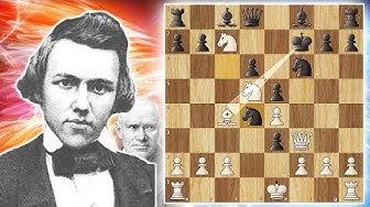 One of The Greatest Chess Games Ever Played - Morphy vs Anderssen 1858 (game 9)