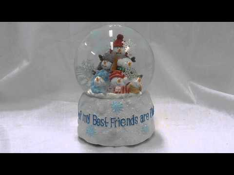 Some of My Best Friends are Flakes Musical Winter Snow Globe
