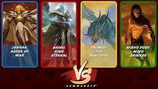 Commander VS S7E3: Jenara vs Brago vs Dromar vs Mirko Vosk [MTG]