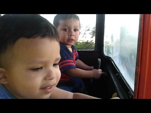 Kings of the road (Noah and Cole at Aventure City)