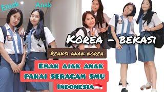 Download REAKSI ANAK KOREA PAKAI SERAGAM SMU INDONESIA || KELUARGA KOREA-BEKASI