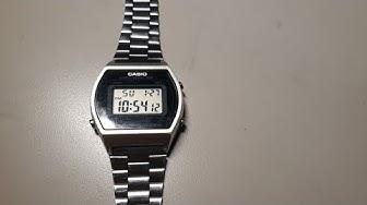 Review và hướng dẫn sử dụng đồng hồ Casio B640w