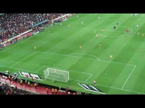Lionel Messi & Luis Suarez Amazing Goals in Warm up Before El Clasico (Live Camera Footage)