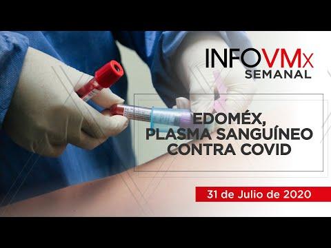 EDOMÉX, PLASMA SANGUÍNEO CONTRA COVID; INFOVMx a 31 de Julio, 2020