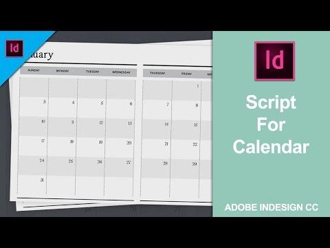 Add or Install Script for Calendar in Adobe InDesign CC 2018