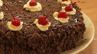 Торт Пьяная вишня / How to make Drunk cherry cake ♡ English subtitles(Приготовление замечательного вкусного праздничного торта