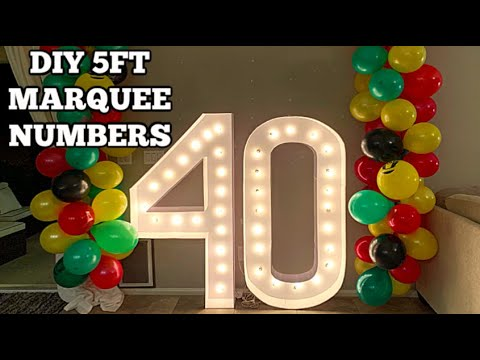 ONLY $12!!   DIY 5FT TALL MARQUEE NUMBERS