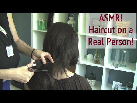 ASMR * Haircut on a Real Person * Hair Brushing * No Talking * ASMRVilla