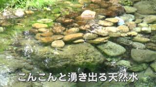 日本名水百選・塩釜の冷泉(岡山県真庭市)