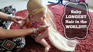 Baby LONGEST hair in the WORLD!!!🌏
