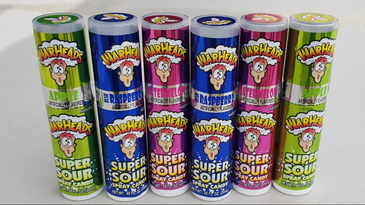 Warheads Super Sour Spray Candy Chug Challenge Youtube