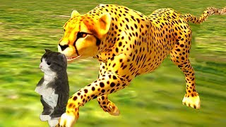 СИМУЛЯТОР Маленького КОТЕНКА #19 дикие звери против милых котиков / Побег мульт героев #ПУРУМЧАТА
