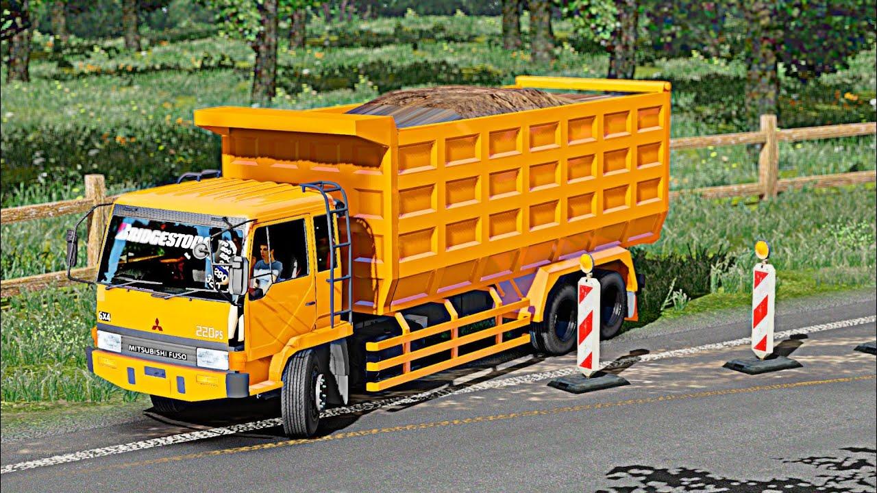 Wow Truk Fuso Jengatan Angkut Tanah Euro Truck Simulator Dump Truck Youtube