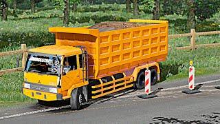 Wow!! Truk Fuso Jengatan Angkut Tanah - Euro Truck Simulator Dump Truck