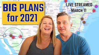 BIG ANNOUNCEMENT and OUR PLANS for 2021 - Very 1st YouTube Live Stream!