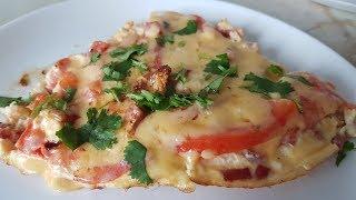 Омлетная пицца Цыганка готовит. Яичница как пицца. Gipsy kitchen.